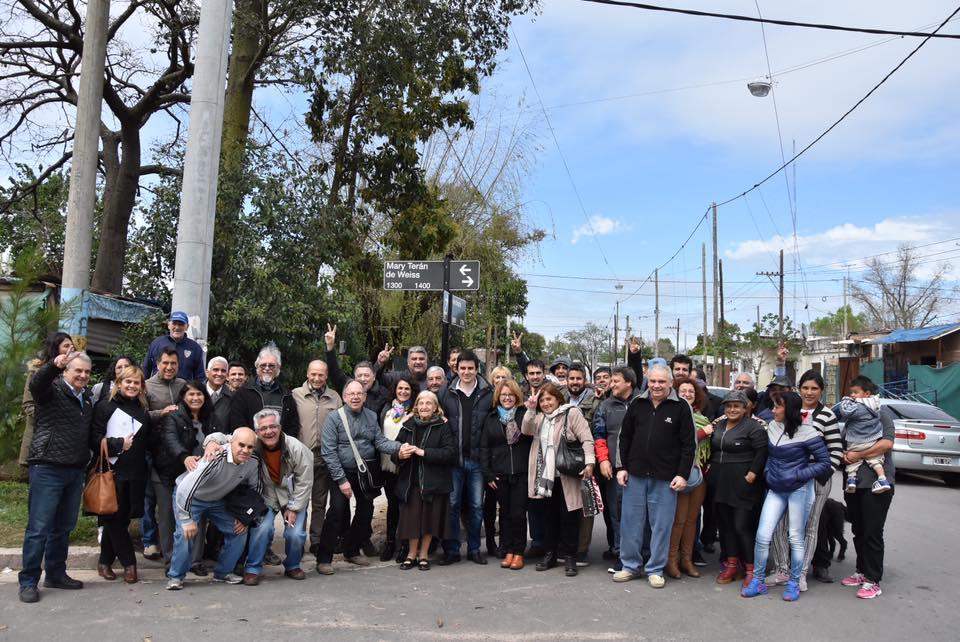 Mary Terán de Weiss ya tiene su calle en Rosario