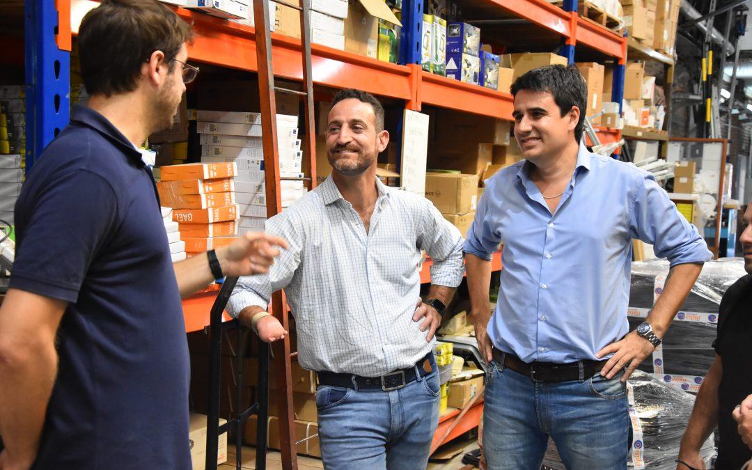 Visita a la empresa Argelec: Toniolli y Sukerman en defensa de la producción y el trabajo