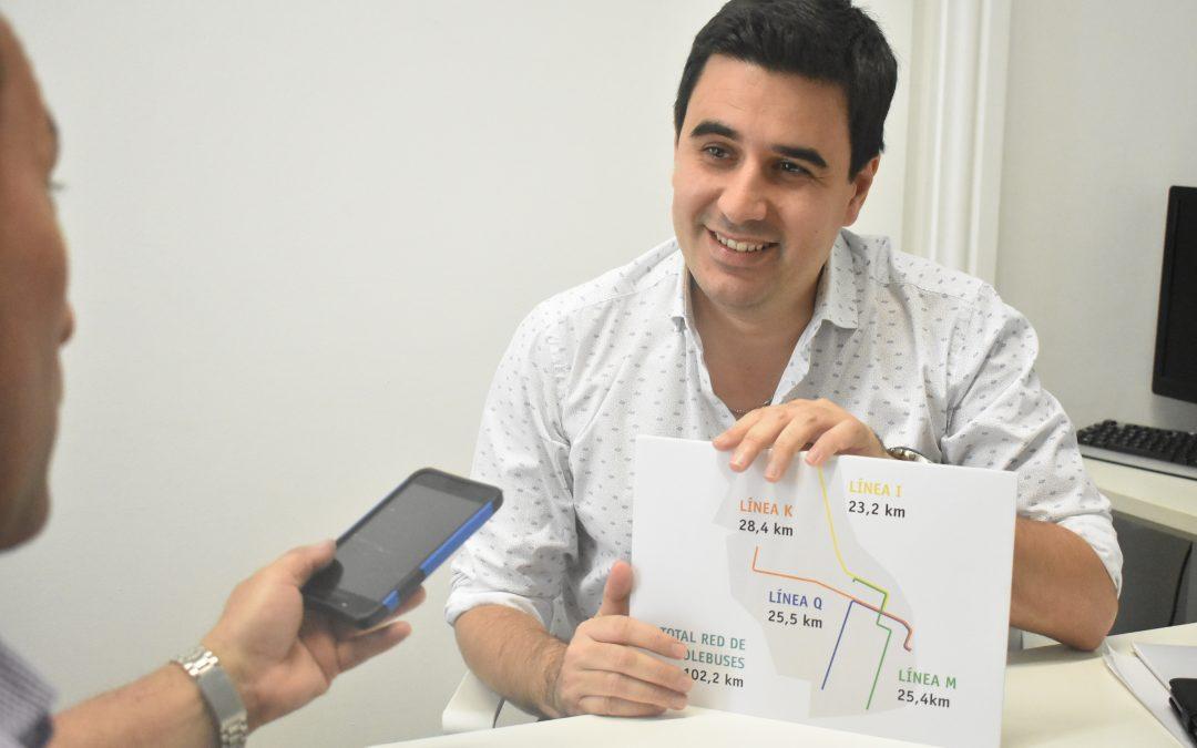 Un plan para reactivar los trolebuses de la ciudad