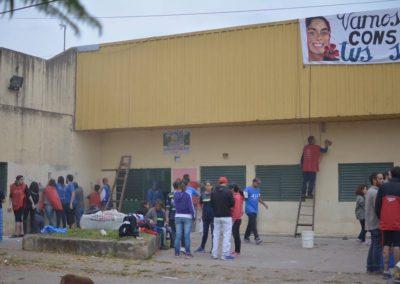 Jornada solidaria en el Barrio las Flores