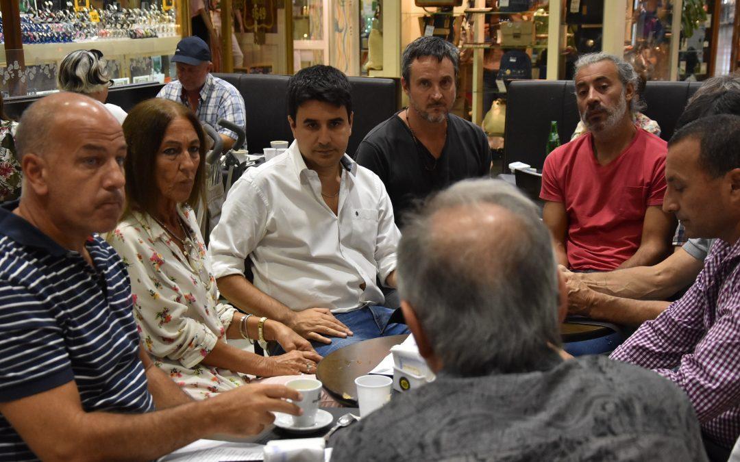 El concejal Toniolli se reunió con comerciantes del casco histórico