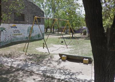 Limpieza y mantenimiento de la Plaza de Juan B. Justo y México