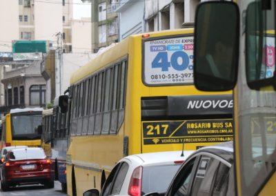Modificación de recorridos de colectivos por calle Santa Fe