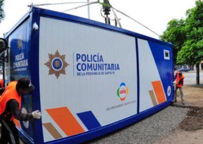Puesto policial en Derqui y Donado