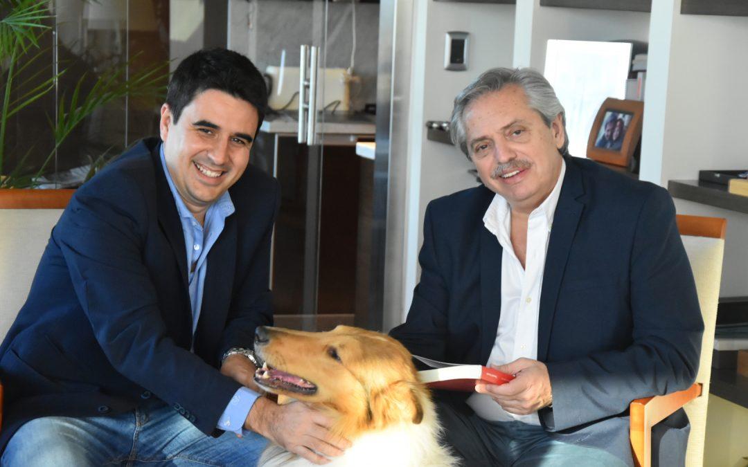 El titular del PJ rosarino se reunió con Alberto Fernández